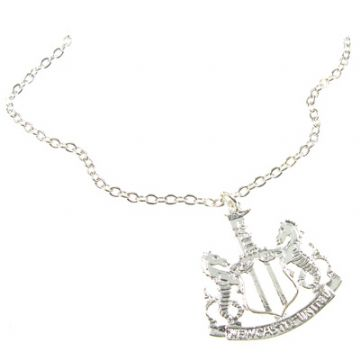 Newcastle United Silver Plated Pendant & Chain